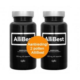 Allibest - Allicine Knoflook 250 mg, 5 mg allicine, 2 x 60 capsules