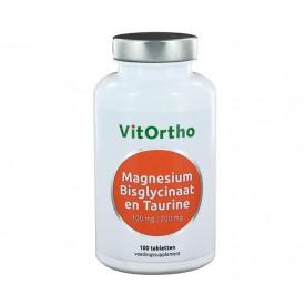 VitOrtho Magnesium Bisglycinaat 100 mg en Taurine 200 mg - 100t Magnesium